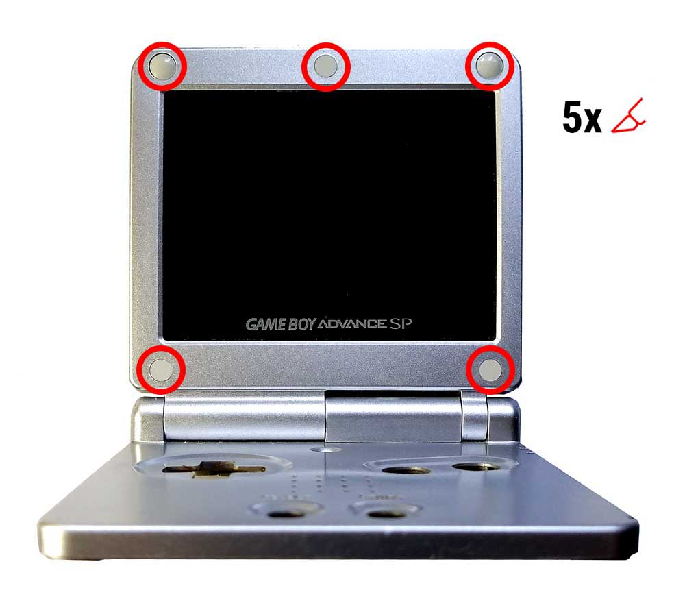 disassemble gba sp / разбираем gba sp
