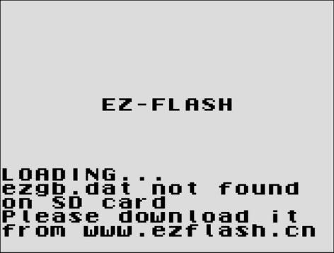EZ Flash Junior Menu