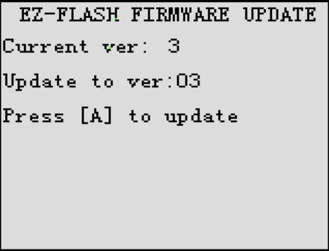 EZ Flash Junior Menu Update