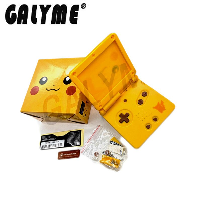 Chinese Pikachu shell gba sp, китайский корпус gba sp