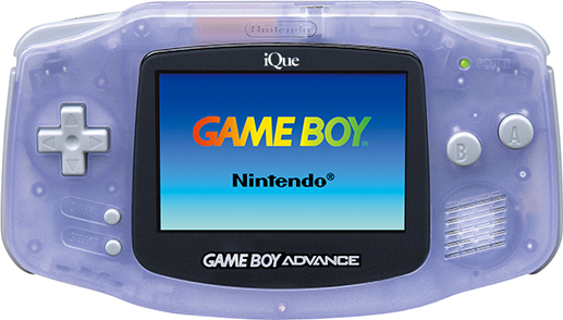 iQue Game Boy Advance Clear Blue